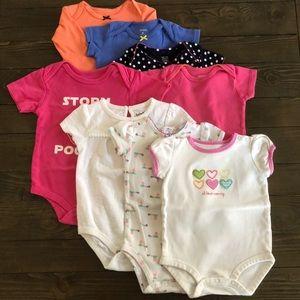 8pc! Carter's Baby Girl 6m onsie bundle